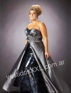 Vestido de fiesta para gorditas en patronato