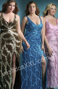 Fiesta para Gorditas , vestidos de egresadas talles especiales
